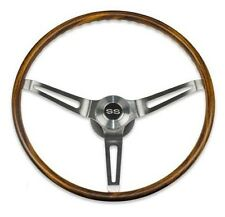 1967-1968 Camaro Chevelle Impala Walnut wood steering wheel kit  w/SS cap