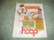 1977 Atlanta Hawks v Milwaukee Bucks Basketball Program 12/23 with tickets