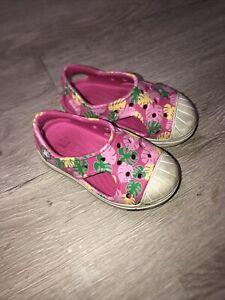Crocs Easy Shoes Toddler Little Kids Baby Girls Pink Sandals