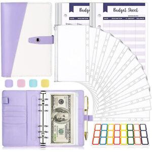 A6 PU Notebook Binder Money Organizer 26pcs Budget Binder with Cash Envelopes