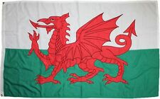 Welsh Dragon Flag Screen  Printed on 160g Polyester Cloth Free Postage