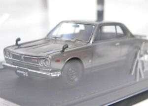 Ignition Model 1:43 Nissan Skyline 2000 GT-R (KPGC10) Silver with Engine