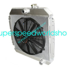 "Aluminum Racing 3 Row Radiator+16"" Fans fits 49-52 Chevy Styleline V8 MT"