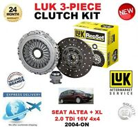 FOR SEAT ALTEA 5P1 XL 5P5 5P8 2.0 TDi 16V 4X4 2004-ON CLUTCH KIT LUK 3 PIECE