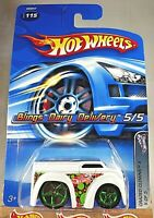 2005 Hot Wheels #115 Crazed Clowns II 5/5 BLINGS DAIRY DELIVERY White w/Green5Sp
