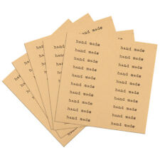 100pcs Hand made Kraft Seal Stickers for DIY Gift Cookie Packaging Labels Decors