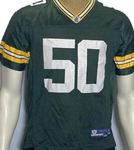 Green Bay Packers A J Hawk NFL Green Reebok Football Jersey Youth Large 14-16