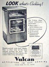 Vintage 1949 'VULCAN' Glass-Door Gas Cooker Print ADVERT - Small Original Ad