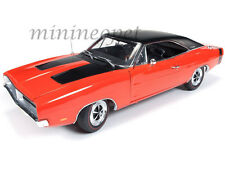 AUTOWORLD AMM1026 1969 DODGE CHARGER R/T 440 HEMI 100TH ANNIVERSARY 1/18 ORANGE