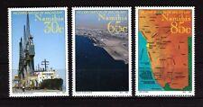 Nave Set di 3 MNH Francobolli 1994 Namibia #759-61 Mappa Vista Walvis Bay