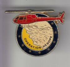 RARE PINS PIN'S .. POMPIER FIRE HELICOPTERE HELICOPTER FEU OPERATION HESOPE  ~DL