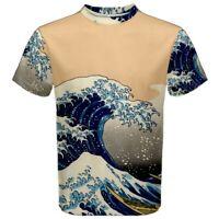 New Hokusai Great Wave Off Kanagawa Sublimated Men Sport Mesh TShirt S-3XL