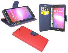 Book-Style Handy Hülle Etui Tasche Cover in Schwarz für LG X POWER 2 @COFI
