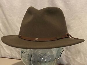 $100 STETSON CRUSHABLE PACKABLE WATER REPELLENT VITAFELT WOOL FEDORA HAT SMALL