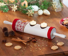 Teelichthalter Nudelholz Kerzenhalter Teelicht Holz Weihnachten Dekoration DEKO