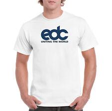 Men's XL EDC Uniting The World T-Shirt EDM Festival Shirt Dj Music FREE Ship