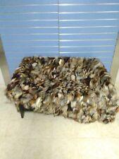 Luxury Crystal Fox Fur Throw Real Fox Fur Blanket / Bedspread