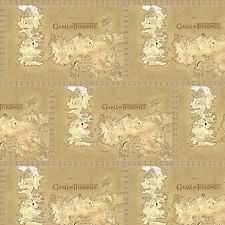 HBO Game of Thrones Map of Westros 100% Cotton Fabric by the yard