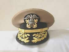USN DRESS KHAKI UNIFORM - ADMIRAL KHAKI VISOR HAT MOST SIZES