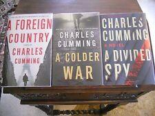 THOMAS KELL Trilogy, Charles Cumming, all SIGNED, 1st/1st prints US HCDJ