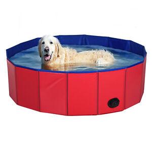 Pet Dog Swimming Pool Portable Bath Foldable Bath Paddling Puppy Garden Bathtub