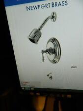 "Newport Brass ""Seaport"" Shower Trim Kit Part No:3-854BP/15S Satin Nickel"