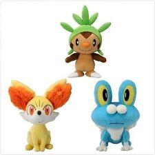 Pokemon Starter Plush Toys 3pcs/set Chespin Fennekin Froakie New Dolls plushies