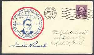 FDR First Term Inauguration, Mar 4, 1933, Empire State Philatelic Assoc Cachet