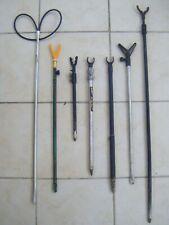 7 x  Fishing Rod Rests Bank Sticks