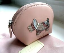 RADLEY London Pink Leather Coins Note Credit Card ZIP PURSE Pocket Pouch Wallet