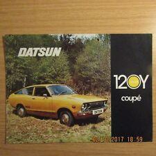 DATSUN 120 Y 120Y COUPE UK Market 2 Sided Car Sales Brochure Leaflet 1974