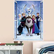 Pegatina Mural de Frozen Elsa Anna Olaf Hans Ventana Infantil