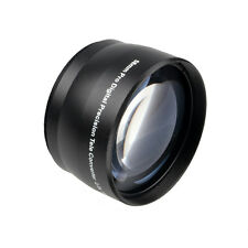 Latest 58mm 2.0X Magnification Telephoto Tele Converter Lens For Digital Camera