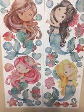 MERMAIDS wall stickers 33 decals little bubbles shells fish bathroom decor ocean