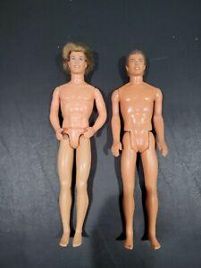 Barbie - Lot of 2 Ken Dolls w/ Clothes & Shoes
