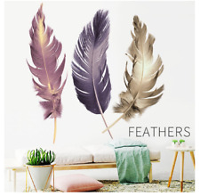 Flying Feather Wall Sticker Color Feather Wall Decals 60x90cm Bedroom Home Decor
