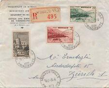Lettre Recommandée Monaco pour la Suisse Zurich Cover