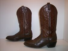 AMAZONAS Brown Leather Western Boots Men's Size 9 D