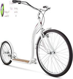 Schwinn Shuffle Adult Scooter, 26-Inch Front Wheel, 20-Inch Rear Wheel, Alloy Li