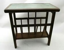 Mid Century Retro Style Anbercraft Tile Top Magazine Rack & Side Table