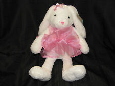 "DANDEE 19"" 12"" BALLET BALLERINA BUNNY RABBIT WHITE SOFT FLUFFY PINK TUTU DRESS"