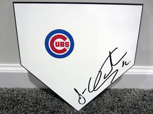 JOSE QUINTANA Chicago Cubs SIGNED Autographed Home Plate Base Plaque w/ COA
