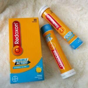 New Redoxon Double Action Vitamin C +Zinc Orange Effervescent 30 Tablet EXP 2022