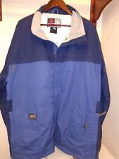 Burton Snowboards Ronin Navy Blue Mesh Lined Ski Coat Full Zip Jacket Men XXL 2X