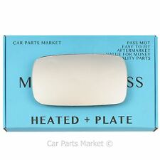Left Passenger side Wing door mirror glass for Volvo s40 2004-06 heated +plate