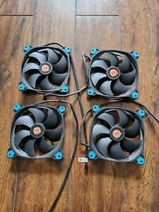 Thermaltake 140mm Blue LED Fan Riing 14 High Static Pressure Anti Vibration