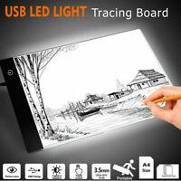 LED USB Tracing Light Box Board Artist A4 Drawing Stencil Tattoo Pad Table Stand