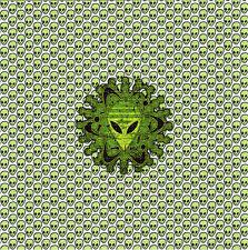 LITTLE GREEN ALIENS - BLOTTER ART Perforated Sheet acid free paper art