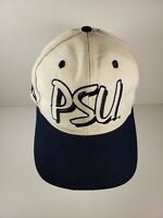 Vintage Penn State Nittany Lions White Snapback Hat Cap The Game