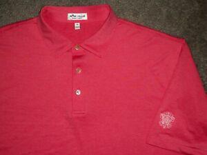 Men's NWOT PETER MILLAR Summer Comfort Polo XL CORAL w/Golf Logo ~ Poly/Spandex
